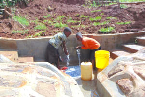 The Water Project: Munenga Community, Francis Were Spring -  Kids Enjoying The Spring
