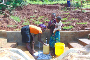 The Water Project: Munenga Community, Francis Were Spring -  Thumbs Up For Clean Water