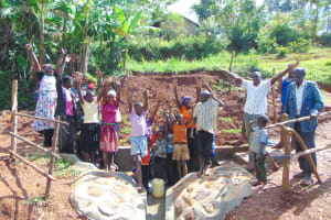 The Water Project: Munenga Community, Francis Were Spring -  Community Celebrates The Spring