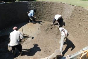The Water Project: Shichinji Primary School -  Busy At Work Inside The Tank