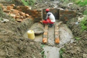 The Water Project: Sambaka Community, Sambaka Spring -  Brickwork
