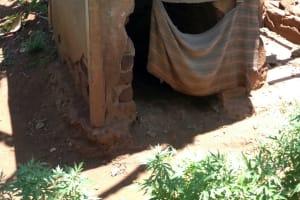 The Water Project: Shikhombero Community, Atondola Spring -  Latrine