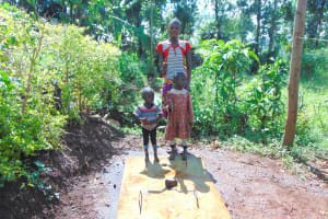 The Water Project: Munenga Community, Francis Were Spring -  Proud New Sanitation Platform Owners