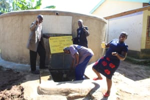 The Water Project: Kapkures Primary School -  Having Fun With Team Leader Catherine Chepkemoi