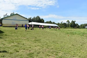 The Water Project: Eshimuli Primary School -  Pupils Play Outside