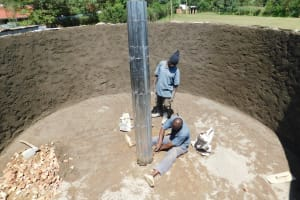 The Water Project: Shichinji Primary School -  Constructing Central Support Pillar