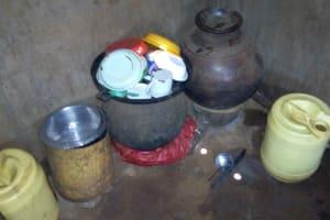The Water Project: Shikhombero Community, Atondola Spring -  Water Storage