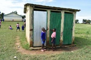 The Water Project: Eshimuli Primary School -  Boys Latrines
