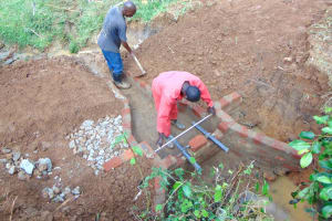 The Water Project: Munenga Community, Francis Were Spring -  Checking Measurements