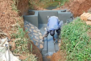 The Water Project: Emulembo Community, Gideon Spring -  Cement Work