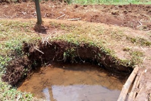 The Water Project: Shikhombero Community, Atondola Spring -  Unprotected Atondola Spring