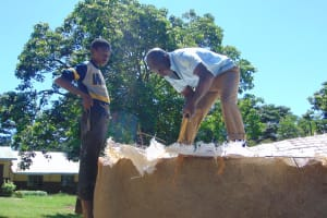 The Water Project: Kakamega Muslim Primary School -  Working On The Dome