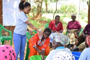 The Water Project: Mukuku Community A -  Handwashing Demonstration