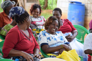 The Water Project: Mukuku Community A -  People Laugh During The Training