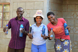 The Water Project: Mukuku Community -  Shg Members Pose With Their New Liquid Soap