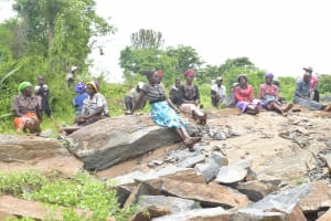 The Water Project: King'ethesyoni Community -  Shg Members Near Project Site