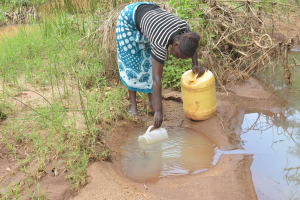 The Water Project: King'ethesyoni Community -  Scooping Water