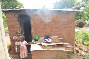 The Water Project: King'ethesyoni Community -  Children In Front Of Kitchen