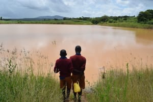 The Water Project: Kavyuni Salvation Army Primary School -  Looking Out At The Open Water Source