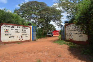 The Water Project: Kavyuni Salvation Army Primary School -  School Gate