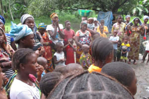 The Water Project: Mathem Community -  Community Members At Ground Breaking For Well