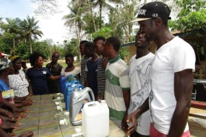 The Water Project: Mathem Community -  Tippy Tap Construction