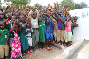 The Water Project: Lokomasama, Menika, DEC Menika Primary School -  Celebration