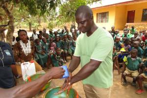 The Water Project: Lokomasama, Menika, DEC Menika Primary School -  Handwashing Demonstration