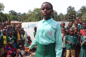 The Water Project: Lokomasama, Menika, DEC Menika Primary School -  Head Girl Makes Speech
