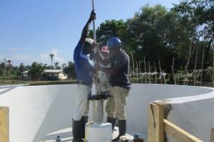 The Water Project: Lokomasama, Menika, DEC Menika Primary School -  Pump Installation