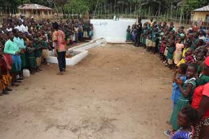 The Water Project: Lokomasama, Menika, DEC Menika Primary School -  Students And Community Gather For Dedication