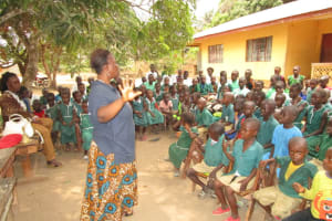 The Water Project: Lokomasama, Menika, DEC Menika Primary School -  Students At The Training