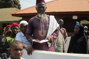 The Water Project: Lungi, Masoila, #3 Kamara Street -  Chief Imam Reading The Funeral Prayer