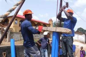 The Water Project: Lungi, Masoila, #3 Kamara Street -  Drilling