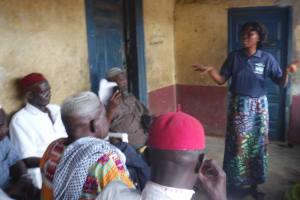 The Water Project: Lungi, Masoila, #3 Kamara Street -  Facilitator Speaks To Attendees