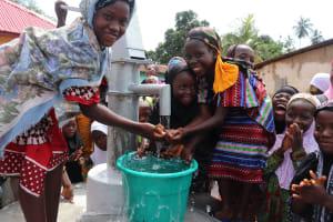 The Water Project: Lungi, Masoila, #3 Kamara Street -  Girls Celebrate At The Well
