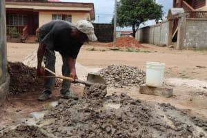 The Water Project: Lungi, Masoila, #3 Kamara Street -  Pad Construction