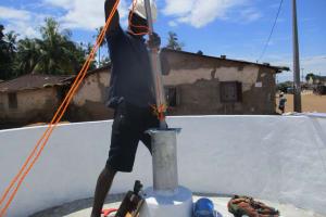 The Water Project: Lungi, Masoila, #3 Kamara Street -  Pump Installation