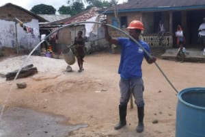 The Water Project: Lungi, Masoila, #3 Kamara Street -  Yield Test