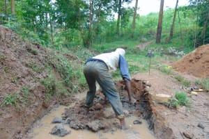 The Water Project: Kimarani Community, Kipsiro Spring -  Excavation Begins