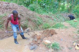 The Water Project: Kimarani Community, Kipsiro Spring -  Opening The Drainage Channels