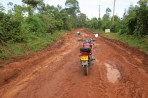 The Water Project: Mwikhupo Primary School -  Poor Conditions On Road To School