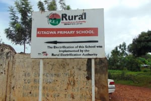 The Water Project: Kitagwa Primary School -  School Signpost