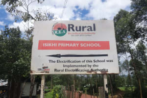 The Water Project: Isikhi Primary School -  School Signpost