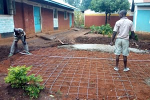 The Water Project: St. Joseph's Lusumu Primary School -  Checkink Tank Foundation Measurements