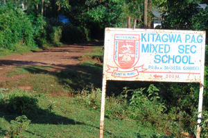 The Water Project: Kitagwa Secondary School -  School Signage