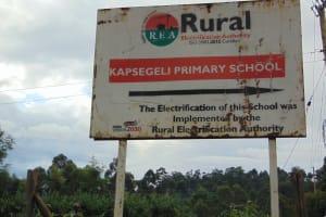 The Water Project: Kapsegeli KAG Primary School -  School Signpost