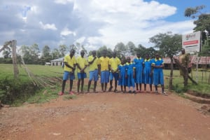 The Water Project: Isikhi Primary School -  Pupils At The School Entrance