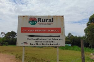 The Water Project: Galona Primary School -  School Signpost
