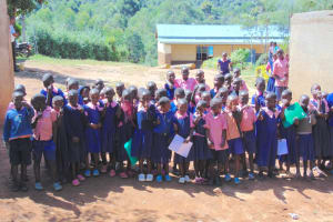 The Water Project: Gimengwa Primary School -  Students At School Gate